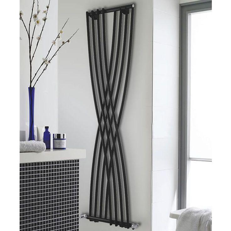 hudson reed high gloss black xcite designer radiator mm x mm with fr hudsonreed com. Black Bedroom Furniture Sets. Home Design Ideas