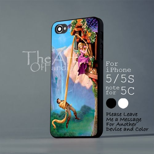 disney tangled A - iPhone 5 5S Black Case - Note For 5C