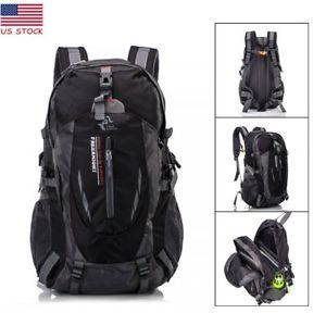 40L Waterproof Outdoor Sport Hiking Camping Travel Backpack Daypack Bag Black