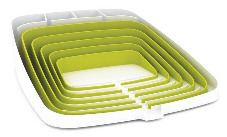 Amazon.com: Joseph Joseph Arena Self-Draining Dishrack, White and Green: Kitchen Tool Sets: Kitchen & Dining