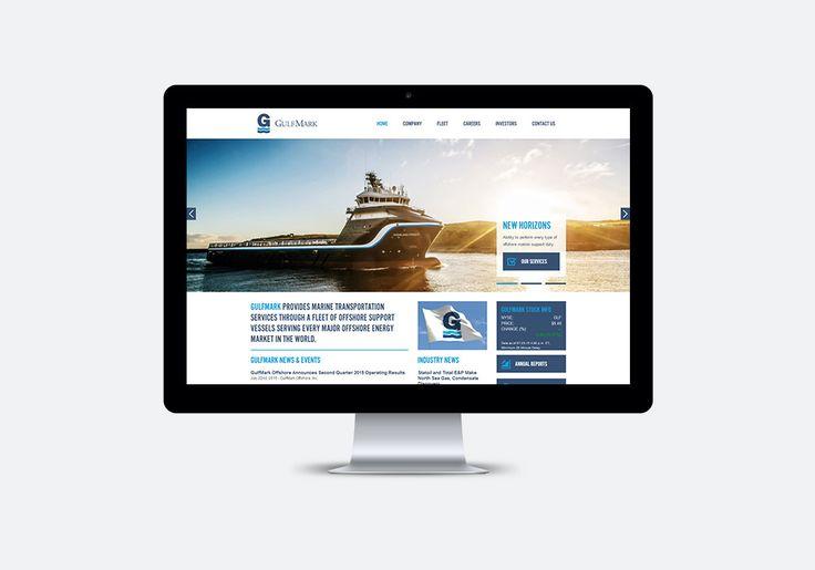 GulfMark Responsive Website, Desktop View