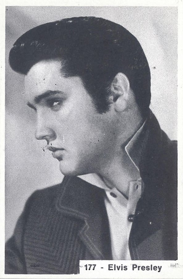 Elvis Presley, 1965; figurina Super Carta