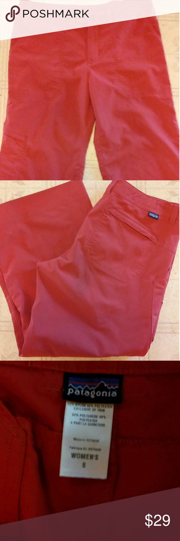 Patagonia capris Coral/rust colored lightweight capris..excellent condition size 8 Patagonia Pants Capris