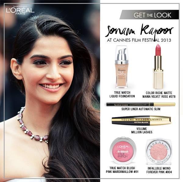 #Maquillaje y #peinado de #SonamKapoor