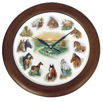 horse clock with sounds