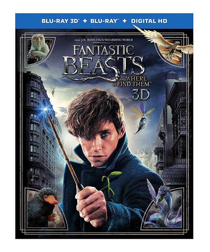 Fantastic Beasts Blue-Ray 3-D & DVD Set