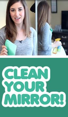 How the pros clean mirrors quickly and without any streaks - this is really good to know!