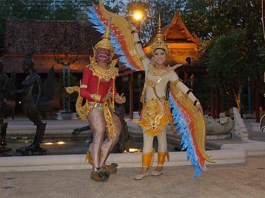 Thai Performers at Siam Niramit outside the Ratchada Theatre in Bangkok, Thailand