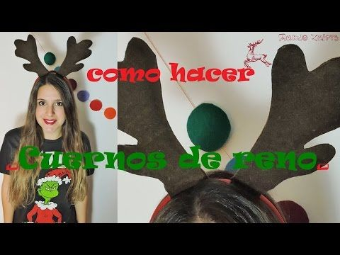 CHRISTMAS DIY - Como hacer cuernos de reno - How to make reindeer horn - YouTube