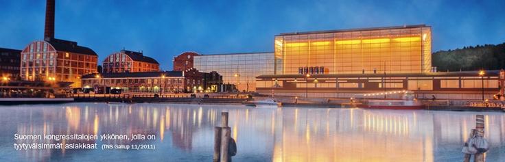This beautiful Sibelius Hall is a sight in Lahti. #Sibelius #Hall #Lahti