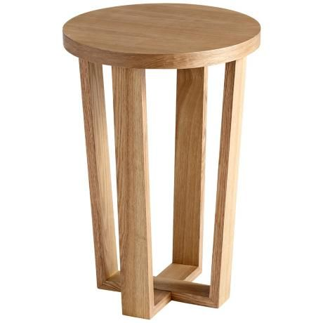 Small Round Rawson Wood Side Table