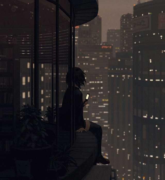 Went For The Blade Runner Vibes Imgur Lonely Art Anime Scenery Anime Scenery Wallpaper