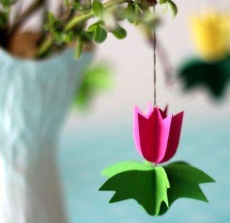 Поделка бумажный тюльпан - Сайт для мам малышей