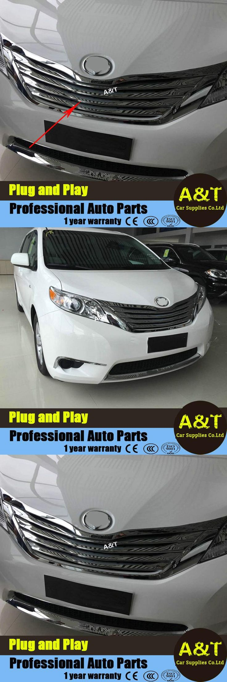 visit to buy car styling for toyota sienna high quality chrome front grille decoration