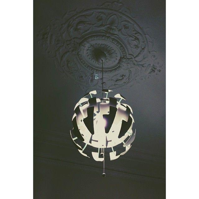 Ikea lamp in classic interior