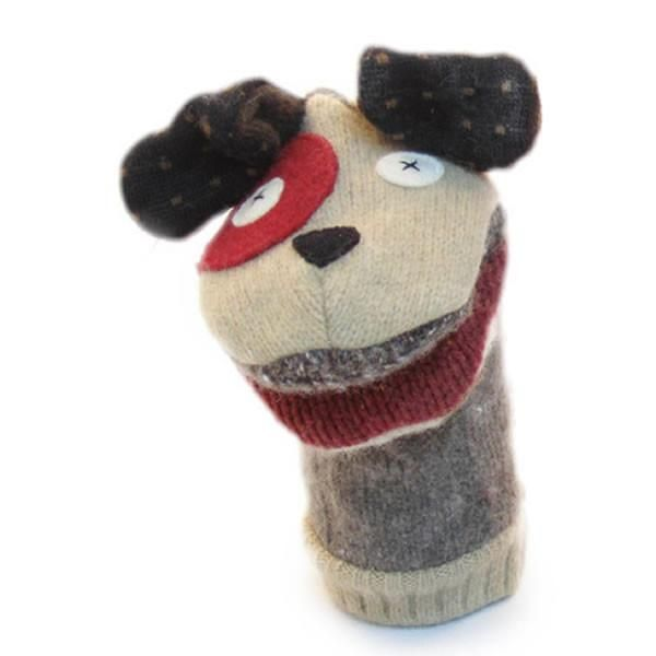 how to make a dog sock puppet