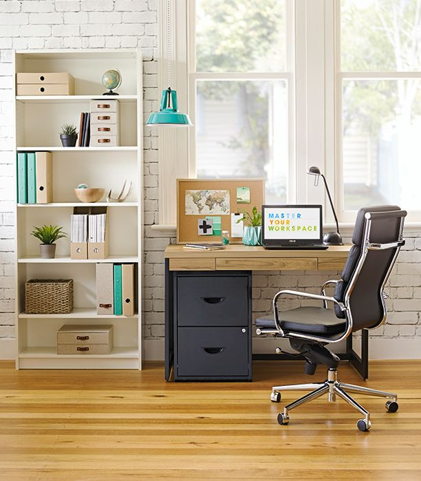 Make your workspace pop with turquoise tones.