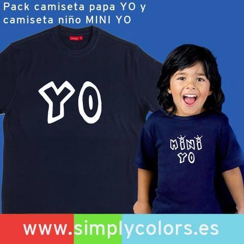 Combinacion de camisetas papa e hijo personalizadas para regalar a papa. Regalo Día del Padre.