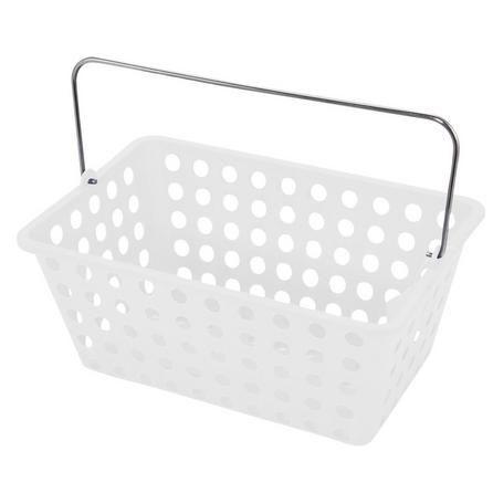 Dunelm White Essentials Frosted Storage Basket