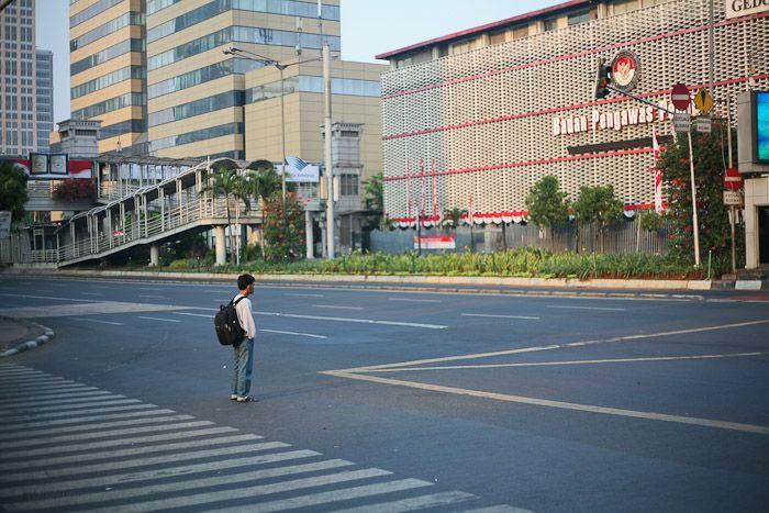 Jakarta Sepi saat Lebaran