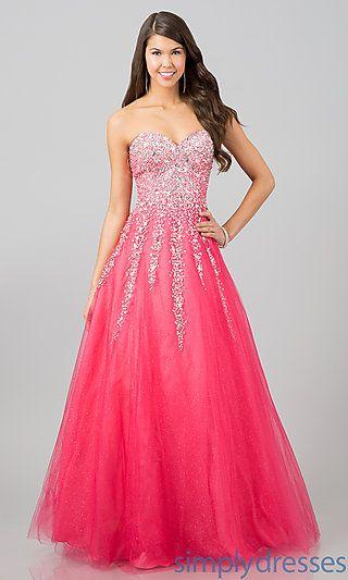 Pink Quinceanera Dresses | Strapless pink gown with rhinestones | Sweet 15 dress | Vestidos de Quinceanera | Quince fashion #quinceanera #sweet15 #vestidos