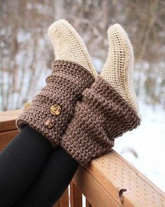 Crochet Audrey Boots-10 High Knee Crochet Slipper Boots Patterns to Keep Your Feet Cozy - Adult Version