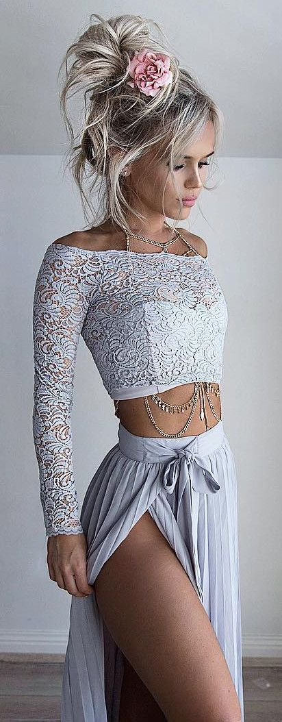 pastel outfit crop top   maxi skirt