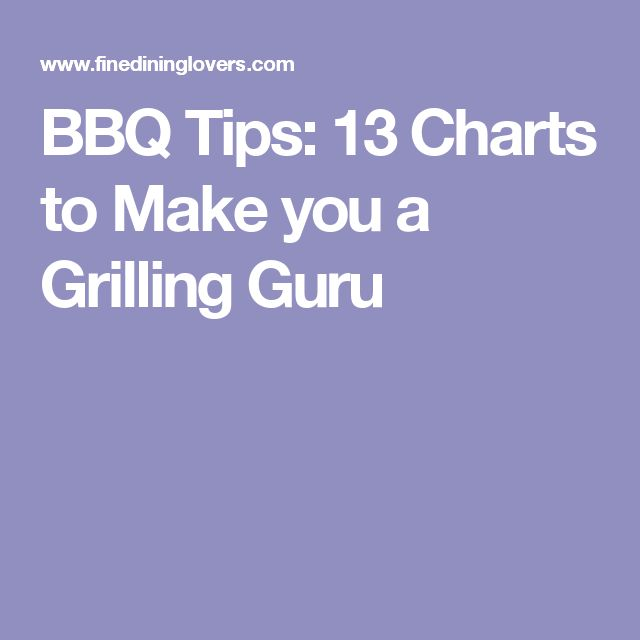 BBQ Tips: 13 Charts to Make you a Grilling Guru