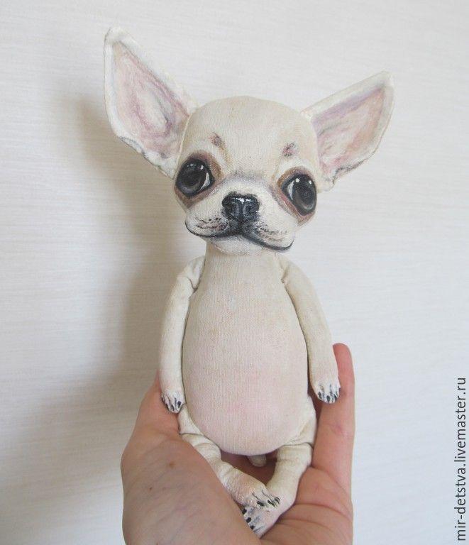 Купить Чих-Пых))) - белый, чихуахуа, белый щенок, чихуашка, чишка, авторская игрушка