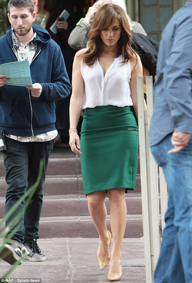 What a knockout! Jennifer Lopez was stunning in green on Saturday on the set of her latest movie, The Boy Next Door, which is currently film...