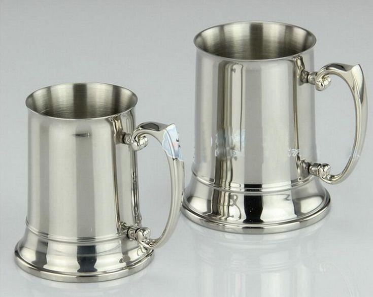 Stainless stell beer mug. Другие необычные кружки для пива смотри по ссылке http://blogosum.com/posts/promo-posuda