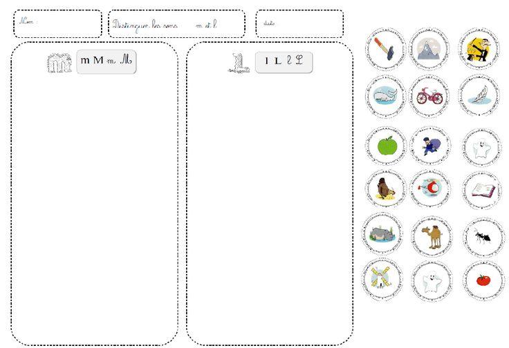 Atelier CP : distinguer les sons - Nurvero - La vie en classe