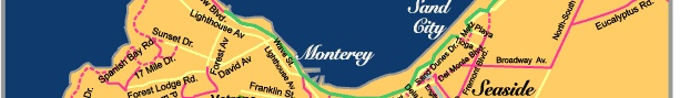 Monterey Peninsula Bike Routes and Path Map  The Monterey Bay Coastal Bike Trail is some 29 miles long stretching from Castroville to the Monterey Peninsula and parts of Pebble Beach. A large portion of the trail is actual bike path while some portions are still shoulder of the road riding. Well maintained and used by both joggers, skaters, walkers and cyclists. Use proper road etiquette when on the bike trail, be courteous to other trail users and stay either to the left or right of the…