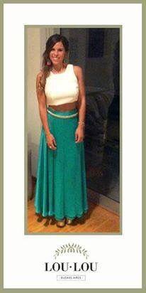 Licina divina con Top Limoux en crepe natural!! #wedding #crop #top #party #night #loulou  Gracias Li por compartirnos la foto =)