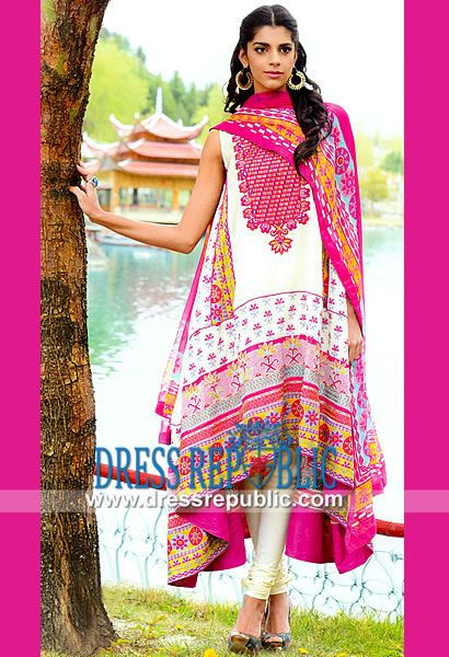 Eid al Adha Lawn Suits 2014 by Wardha Saleem  Shariq Textile Lawn Dresses Online USA. Designer Lawn Clothes in Wholesale at Bulk Pricing to Fit Any Store's Needs, Only On Dressrepublic. by www.dressrepublic.com