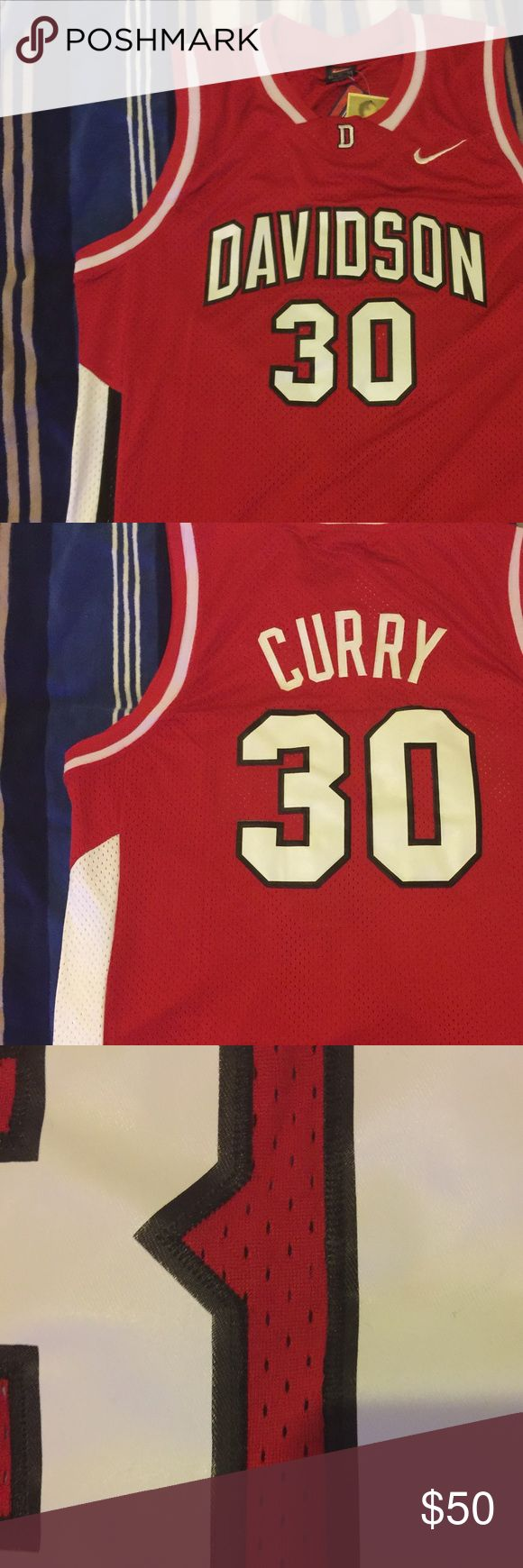 Stephen Curry #30 Davidson throwback jersey 100% authentic brand new Stephen Curry #30 college throwback swingman jersey Nike Shirts Tank Tops