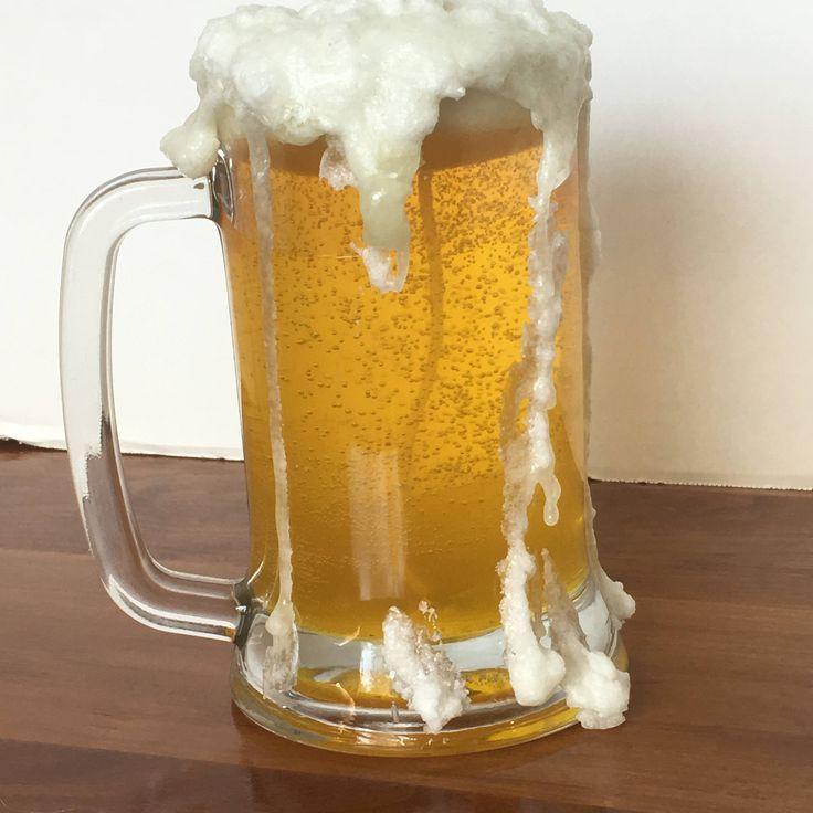 Beer mug gel wax candle with paraffin wax head by JackiesCraftDesign on Etsy