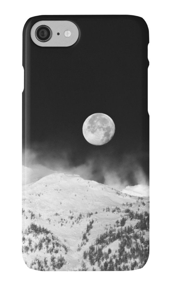 Moon over the Alps by Silvia Ganora - #phonecases #blackandwhite #moon #alps #iphonecases #galaxycases