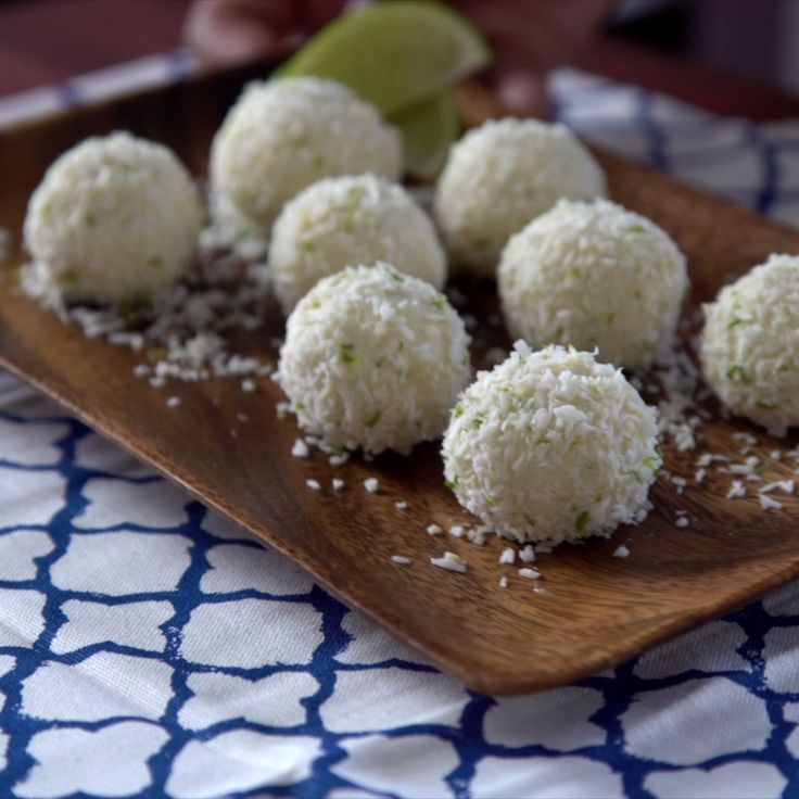 Find paradise in these coconut lime truffles.