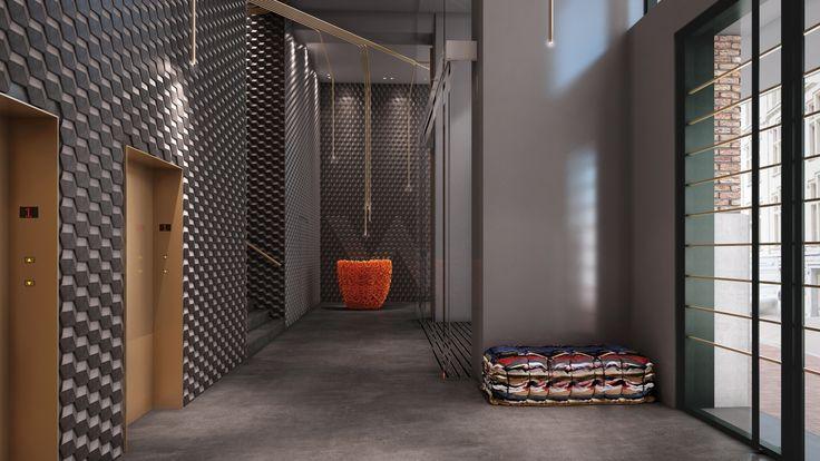 IVANKA HEXXXA-3D modular tiles for W Hotel Amsterdam.