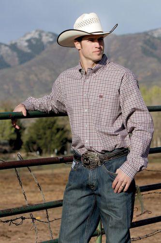 Cinch Jeans Mens Shirt Western Button Up Cowboy Bull Rider