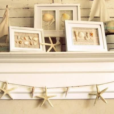 Love the starfish garland for bulletin board or top of the wall. http://indulgy.com
