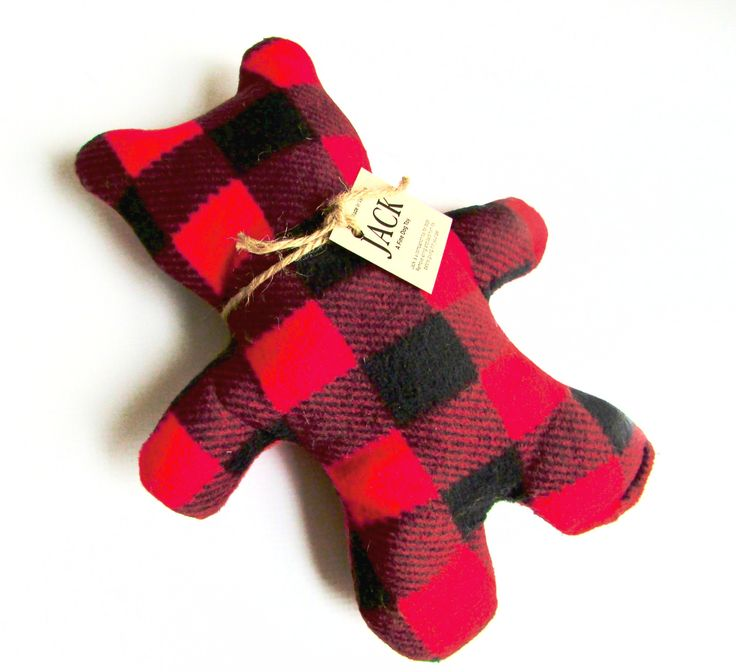 Straight From the Woods of Vermont! This unique, adorable Lumber Jack Teddy Bear is sure to become one of your dog's favorites! Lumber Jack is handmade in Vermont from Buffalo Plaid Eco-Felt. Eco-Felt