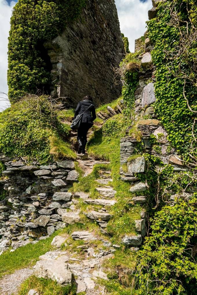 ༺❀༺ Ballycarbery Castle ruins just off the Ring of Kerry, Ireland.
