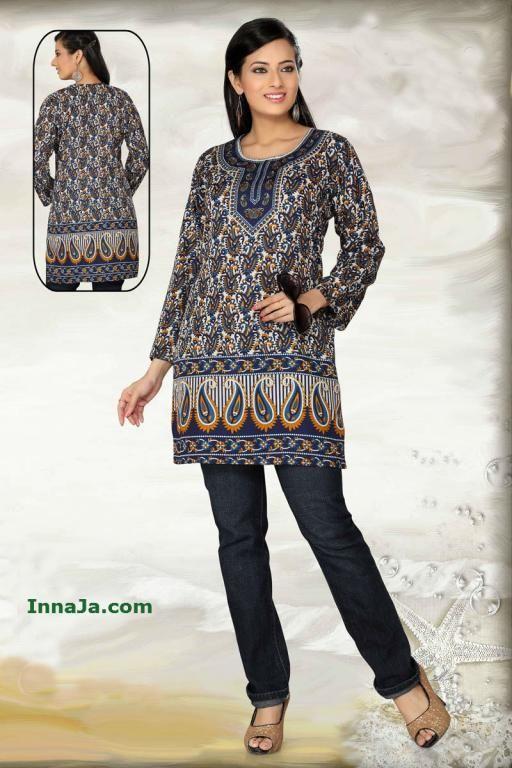 Tunika indyjska BOHO wzór modny paisley r. 46