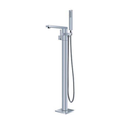 BAI 0618 Freestanding Bathtub Faucet - Square $349.99. BAI freestanding faucet mounted directly to the floor. This faucet will complement any modern or contemporary looking bathroom with a freestanding tub.