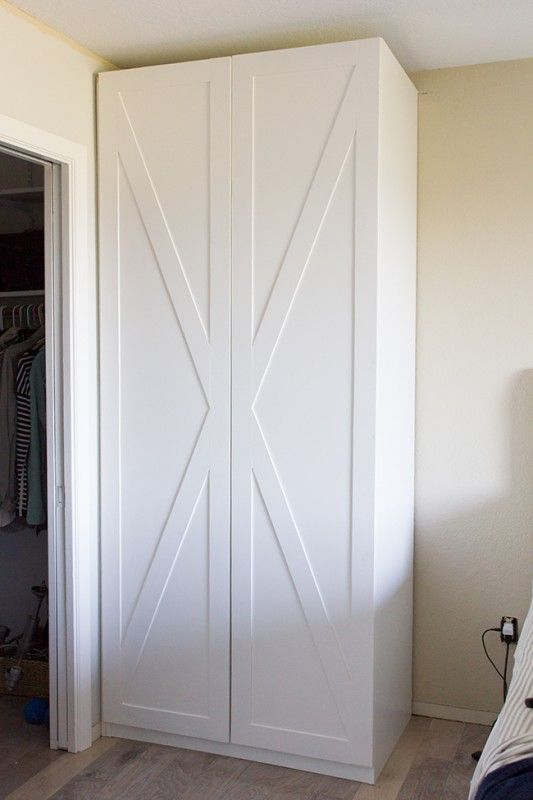 Barn Door Style Ikea Pax Wardrobe Hack Jenna Sue Designs