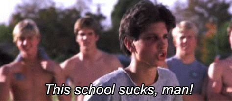 New trendy GIF/ Giphy. 80s movies ralph macchio the karate kid this school sucks man. Let like/ repin/ follow @cutephonecases