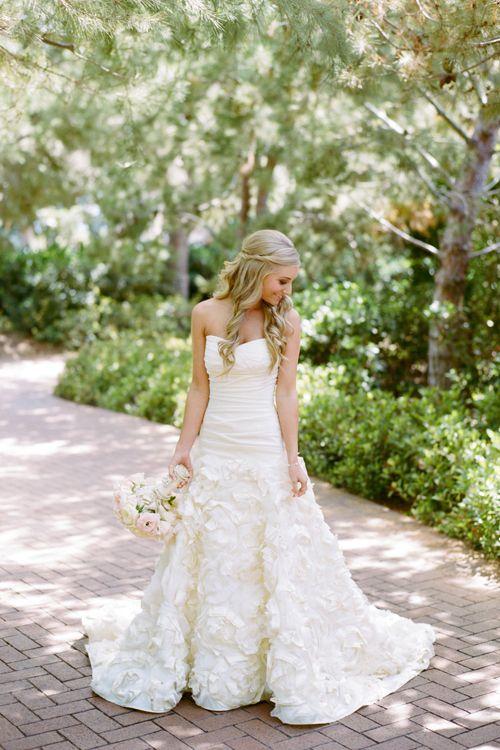 Jenny Lee Wedding Dress with Lace Rosettes