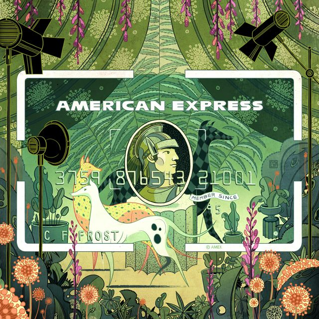 American Express wanted me to interpret their three cards in my own way. I decided to create a mini series about the artistic events Amex card holders are privileged to enjoy. I want to tell the stories while playing and interacting with the Amex motifs, …